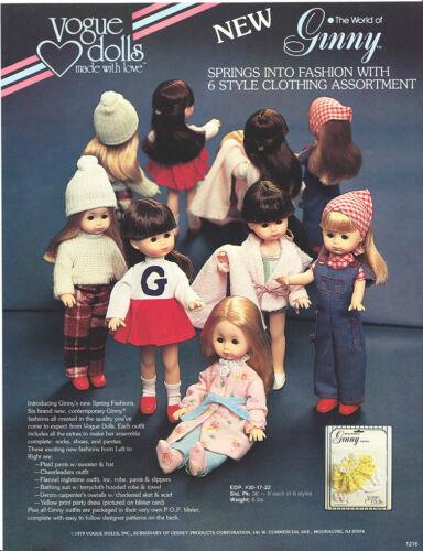 "World of Ginny/"" USA 1979 Matchbox original promo leaflet /""Vogue Dolls"