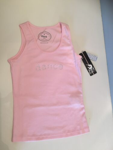 ideal for dance classes various sizes Girls Pink Diamonte Vest Top