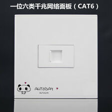 Wall Socket Plate 6 Port Cat6 LAN Network Ethernet Panel Faceplat ...