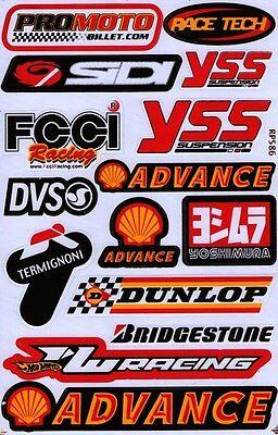 Shell Oil Racing Decal Gas Pump Car truck Bumper Window Sticker sheet. (st18)