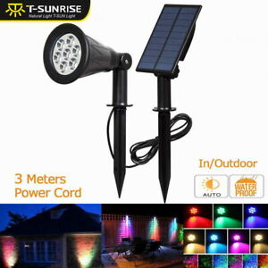 LED Solar Power Garden Lamp Spot Light Outdoor Lawn Colorful Path Spotlight Lamp