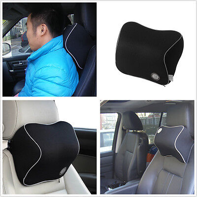Car SUV Seat Headrest Pad Space Memory Foam Pillow Cushion Head Neck Support Mat