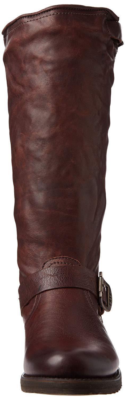 FRYE Women's Women's Women's Veronica Slouch Boot, Dark Brown Soft Vintage Leather, SZ 6 35e4c7
