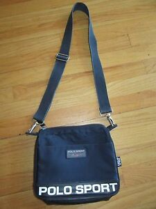 f6335b83d3df 7E VTG 90 s SPELL OUT POLO SPORT RALPH LAUREN CROSSBODY BAG BLUE ...