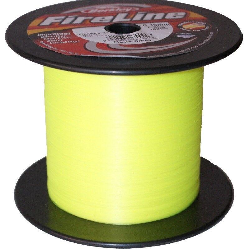 Berkley FIRELINE 1800m 0.15mm Flameverde intrecciato lenza leuchtverde SHA