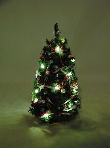 image is loading christmas tree 7 034 lighted silver red 1