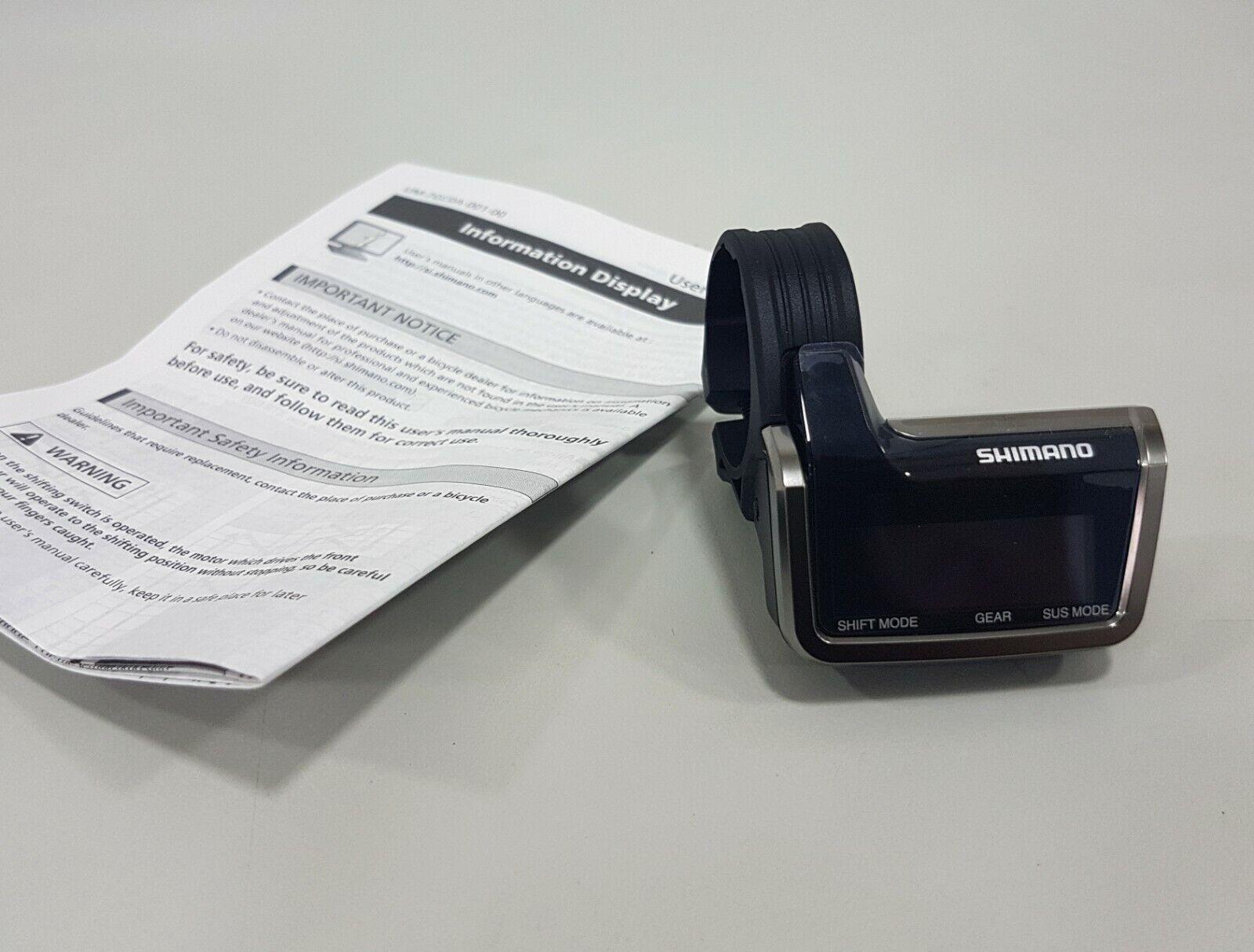 Shimano XTR Di2 SC-M9050 M9050 pantalla de información de sistema de unidad de pantalla (Negro)