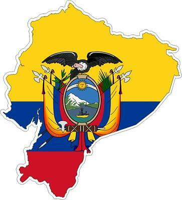 Autoadesivo Adesivo Automobile Vinile Bandiera Porta Carte Ecuador Belle Arti
