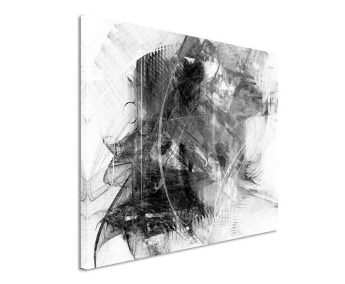 Leinwandbild abstrakt schwarz grau weiß Paul Sinus Abstrakt/_749/_120x80cm