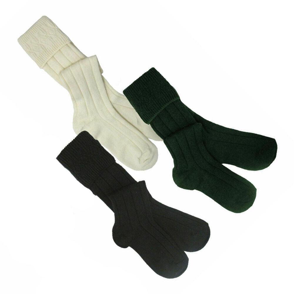 Mens Woollen Mix Scottish Highland Kilt Hose/Socks  Tartancity