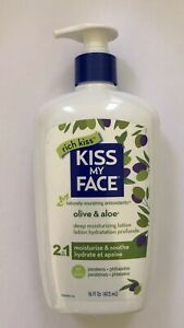 Kiss-My-Face-Olive-amp-Aloe-Body-Lotion-16-oz-Cruelty-Free-DISCONTINUED-HTF-RARE