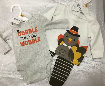 6 month Carter/'s Baby Gobble Til You Wobble Jumpsuit Collectible Bodysuit 3