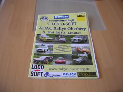 Programm 7. Loco-soft Adac Rallye Oberberg Lindlar, 5. Mai 2013
