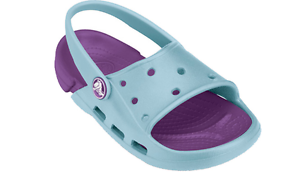 Crocs Kid's Electro Slide Crocs Purple/Light Blue Size UK Infant 6/7-UK2