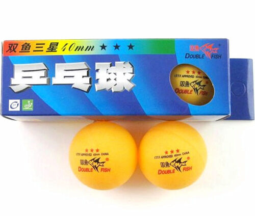 60 Pcs Double Fish 3 Stars 40MM Olympic Games Orange Ping Pong Balls 20 Boxes
