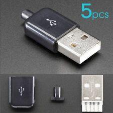 LOT x5 Connecteurs USB Standard male Type A 4 Pin connector fiche a souder DIY
