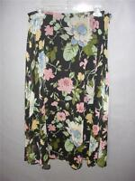 Good Clothes Black Floral Skirt Womens Size 10