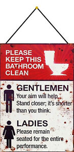 Keep-This-Bathroom-Clean-Sign-with-Cord-Metal-Tin-7-7-8x11-13-16in-FA0329-K