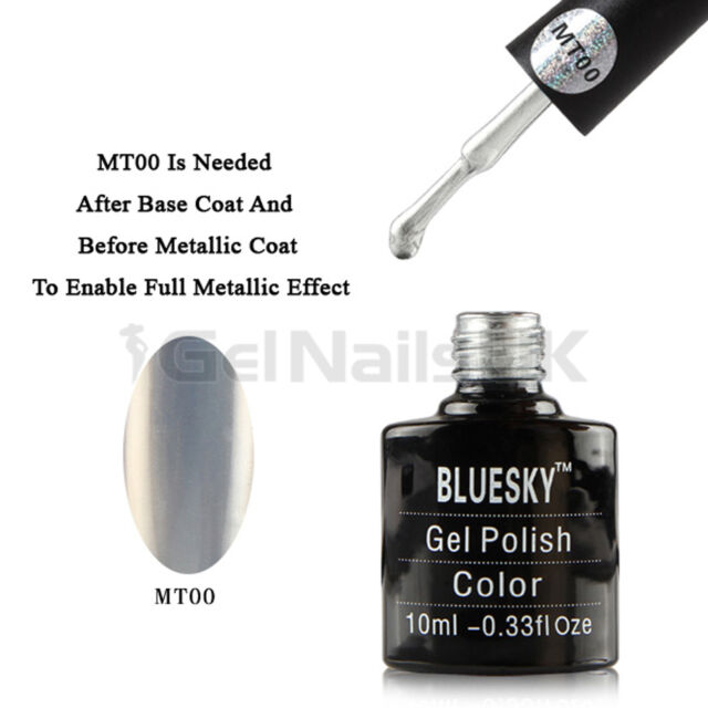 Bluesky METALLIC EFFECT UV Gel Nail Polish Soak Off 10ml Bottles