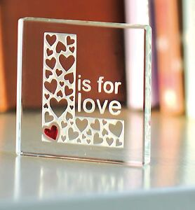 Spaceform L Is For Love Token Romantic Christmas Gift ...