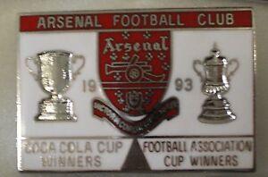 ARSENAL-FOOTBALL-CLUB-COCA-COLA-amp-F-A-CUP-WINNERS-1993-Enamel-Pin-Badge