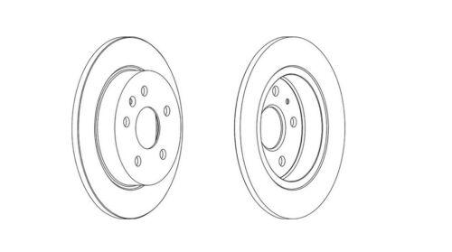 12 meses de garantía! 2x nuevo Ferodo Disco De Freno Trasero-DDF1804C