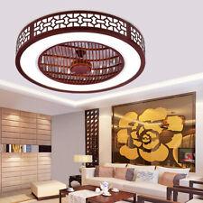 22 Modern Red Ceiling Fan With Light Semi Flush Mount Remote Led Chandelier 64w