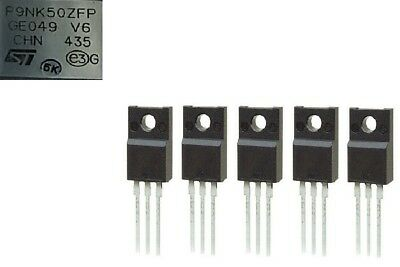 5 X STMicroelectronics TO-220 STP7NK40Z MOSFET N