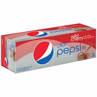 Wild Cherry Diet Pepsi Soda 12 Pack Of Cans