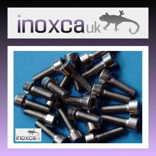 20 M5 X 16 HEXAGON SOCKET CAP SCREW ALLEN BOLT A2-70 STAINLESS STEEL HEX 304 SS