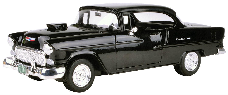 New-Motormax 1955 Chevy Bel Air Coupe w Hood Scoop 1 18 -79001
