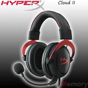 f05d2d54f1b GENUINE Kingston HyperX Cloud II 2 Gaming Headset Black Red PC Mac ...