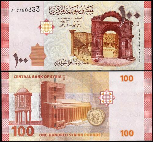 P-113 SYRIA 100 POUNDS 2009 UNCIRCULATED