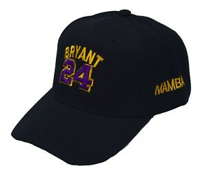 Kobe Bryant 24 baseball cap yellow purple hat black mamba