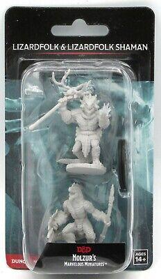 W12 Lizardfolk /& Shaman 90074 Nolzur/'s Marvelous Miniatures D/&D Minis