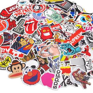 17Pcs Skateboard Stickers Bomb Luggage Car Laptop Fridge Decals Pack Lot Cool