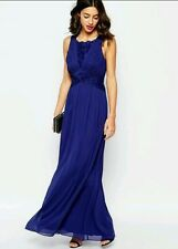 COAST  * DANIELLA * MULTI WAYS  STRAPS  MAXI DRESS NAVY BLUE SIZE 8 NEW