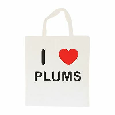 I Love Plums - Cotton Bag | Size choice Tote, Shopper or Sling