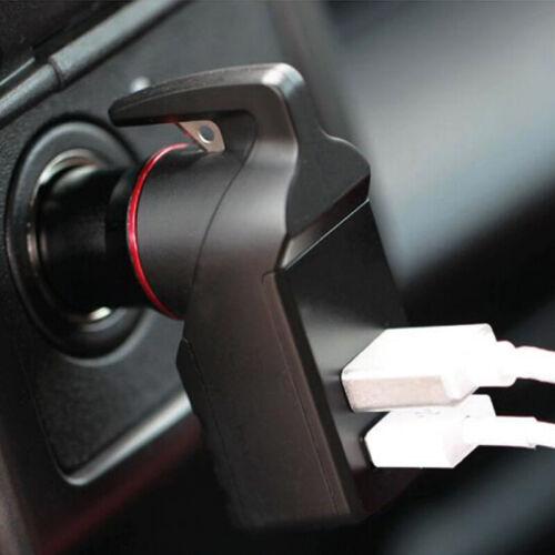 3In 1 Car USB Emergency Tool Window Braker Seat Belt Cutter USB Chager Universal
