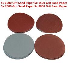 """20X 5"""" 1000/1500/2000/3000 Schleifscheiben Schleifpapier Schleifmittel ohne Loch"""
