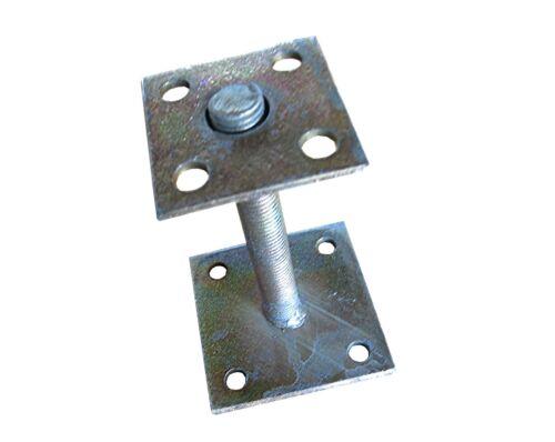 Stützfuß Stellfuß Pfostenträger Platte verzinkt höhenverstellbar für Pfosten
