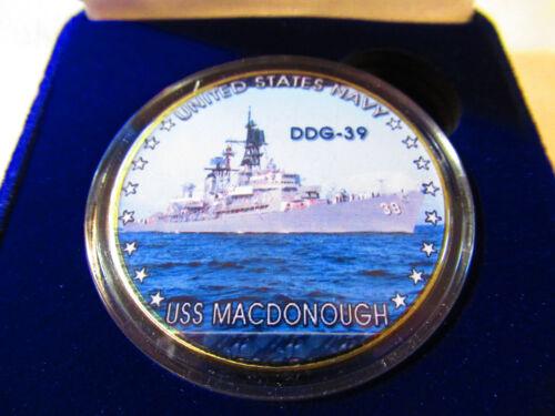 DDG-39 USS MACDONOUGH US NAVY Challenge Coin w// Presentation Box