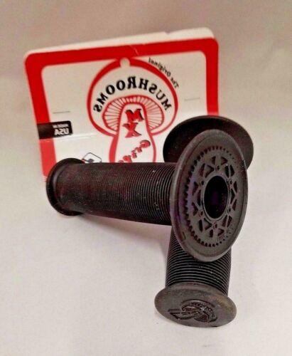 OLD SCHOOL BMX ODI MUSHROOM GRIPS BLACK