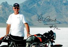 Alan CATHCART SIGNED Autograph 12x8 Photo D AFTAL COA Land Speed Record Holder