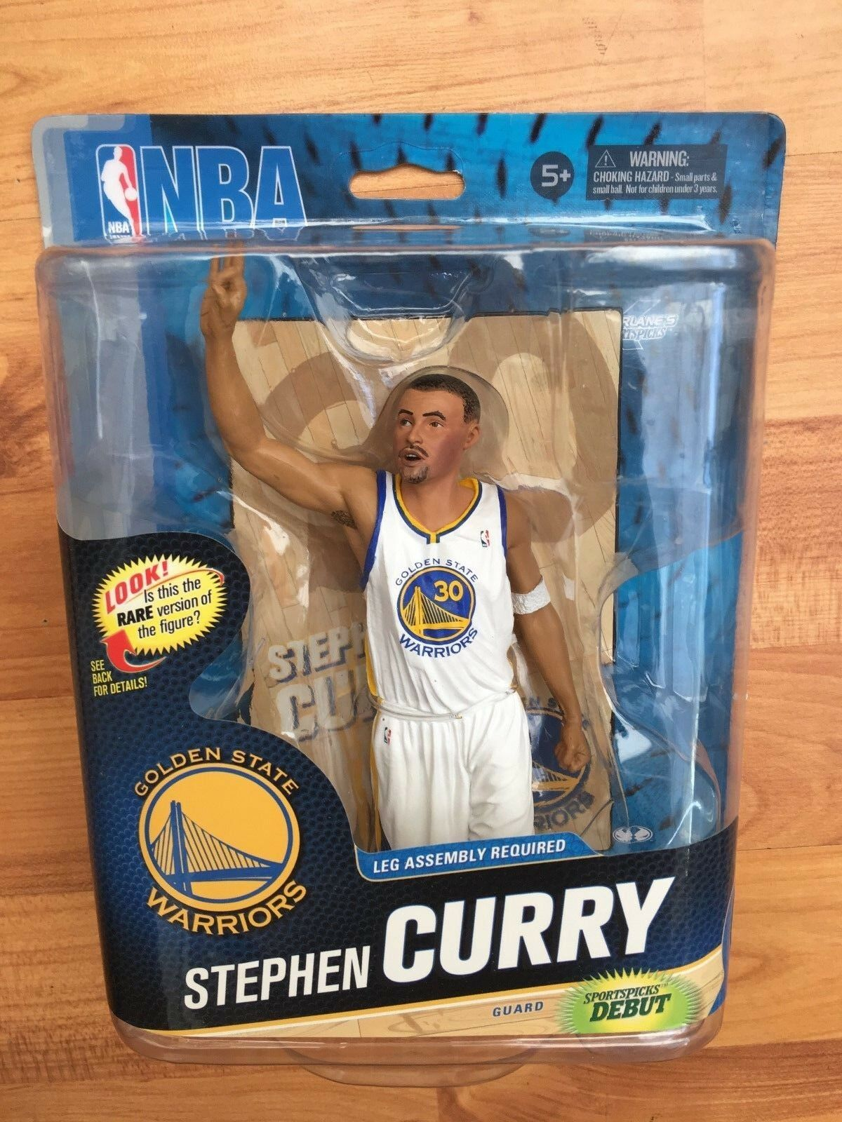 BNIB MCFARLANE BASKETBALL NBA SERIES 24 FIGURE STEPHEN CURRY WHITE