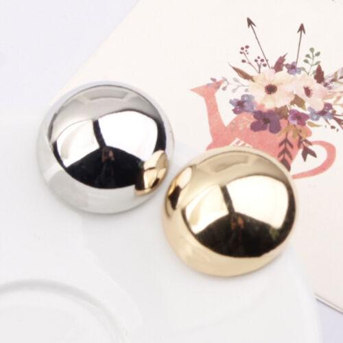 Ohrringe Stecker golden groß Halbe Perlen Metall 30mm einfach Class NN5