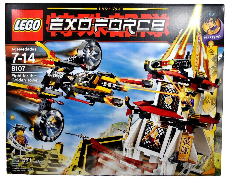 LEGO 8107 SENTAI oroEN TOWER EXO-FORCE  -  571 PCS -NIB  con il 100% di qualità e il 100% di servizio