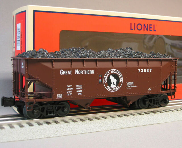 LIONEL GREAT NORTHERN SCALE OFFSET HOPPER train 6-27977 heavy weight car 6- 27979