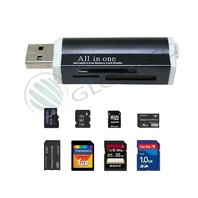 All in One all in 1 USB Reader Card for Micro MMC HC TF M2 Adapter Memory