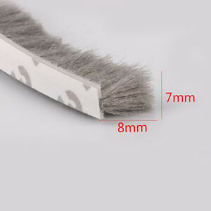 7mm X 8mm Self Adhesive Window Door Draught Excluder Brush